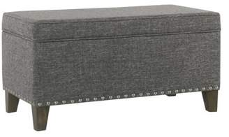 HomePop Blake Large Storage Bench with Nailhead Trim, Multiple Colors