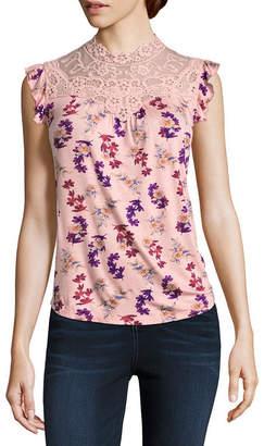 Self Esteem Sleeveless Jersey Dress Shirt-Juniors