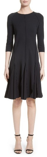 Women's Armani Collezioni Seamed Jersey Fit & Flare Dress