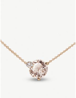 Rosegold BUCHERER FINE JEWELLERY Peekaboo rose-gold and morganit necklace