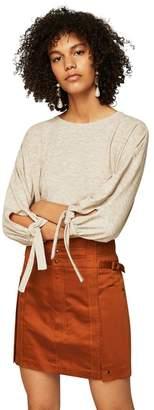 MANGO Pastel Brown 'Colar' T-Shirt