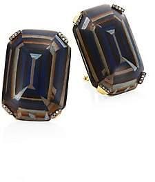 Silvia Furmanovich Marquetry Light Brown Diamonds & 18K Yellow Gold Stud Earrings