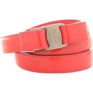 50978b0af14 Salvatore Ferragamo Pink Patent leather Belts
