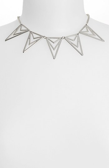 Topshop Triangle Cutout Necklace