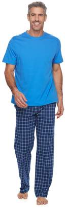 Croft & Barrow Men's True Comfort Solid Tee & Printed Pants Sleep Set