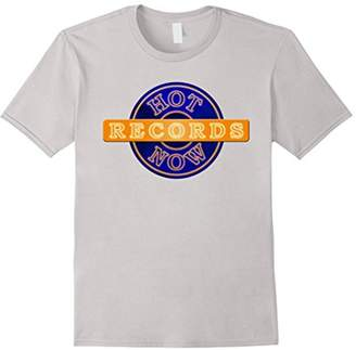 Hot Now Records Short Sleeved T-Shirt (Blue)