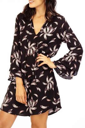 Veronica M Floral V-neck Tie Front Dress