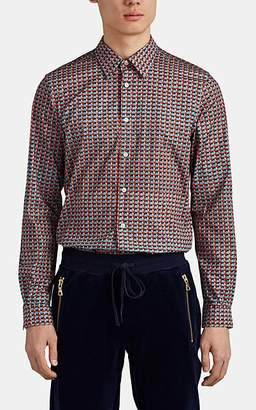 Paul Smith Men's Fox-Print Cotton Poplin Shirt - Red