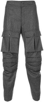 Thom Browne Articulated Solid Wool Flannel Trouser