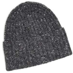 Drakes Drake's Donegal Merino Wool Hat in Charcoal