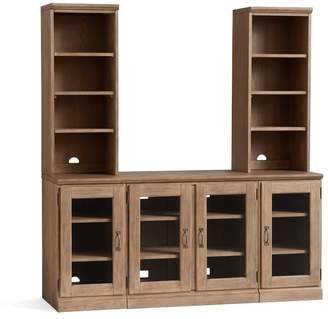 Pottery Barn Printer's Large TV Stand Suite with Towers