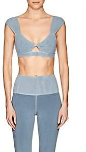Laurèl Electric & Rose Women's Cotton Crop Top-Blue