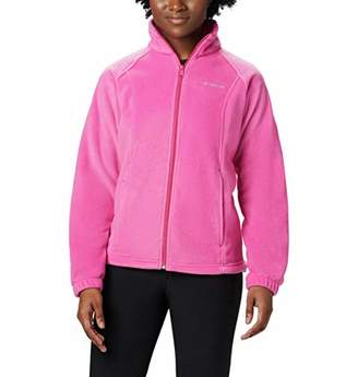 Columbia Women's Plus Sizetested Tough in Pink Benton Springs Fz Size Tested