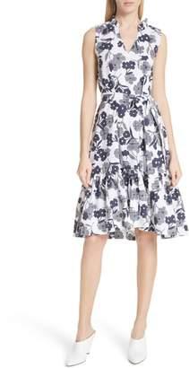 Kate Spade Shadows Fit & Flare Poplin Dress