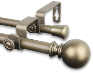 Rod Desyne Leslie Double Curtain Rod & Hardware Set