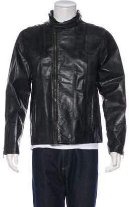 Dolce & Gabbana Distressed Goatskin Belt-Accented Jacket