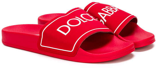 logo print pool slides