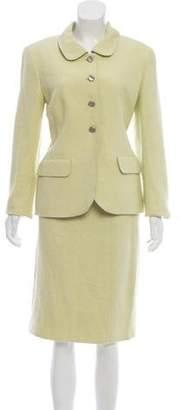 Chanel Tweed Knee-Length Skirt Suit Lime Tweed Knee-Length Skirt Suit