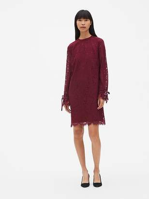 Gap Floral Lace Tie-Sleeve Shift Dress