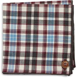 Wilson Armstrong & Plaid Cotton Pocket Square