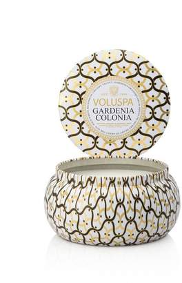 Voluspa 2-Wick Tin Candle - Gardenia Colonia