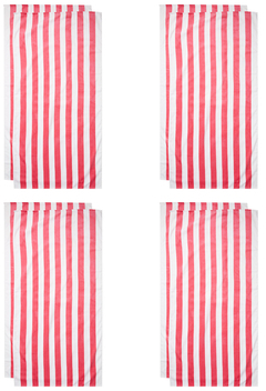 Cabana Stripes Terry Velour Beach Towel (Set of 4)
