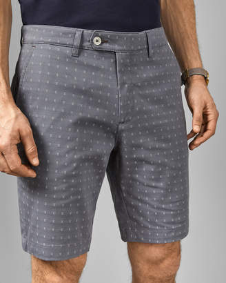 Ted Baker JOORDAN Cross embroidery cotton shorts