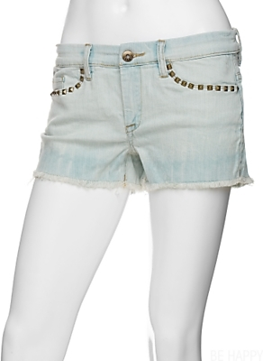 Blank Stud Denim Shorts: Gimme Wash