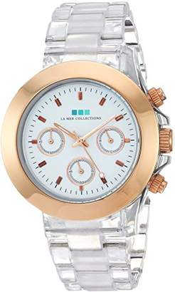 La Mer Women's 'Carpe Diem Watch' Quartz Stainless Steel and Plastic Casual