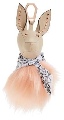 Kendall + Kylie Bambi Faux Fur Bag Charm - Beige $150 thestylecure.com