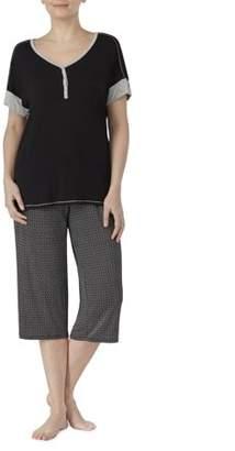 Secret Treasures Women's and Women's Plus 2 Piece Modern rayon spandex Pajama Set