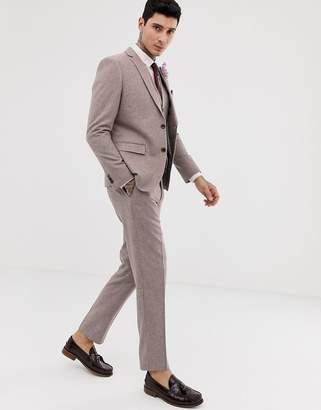 06127221 Harry Brown wedding wool blend slim fit summer tweed suit pants
