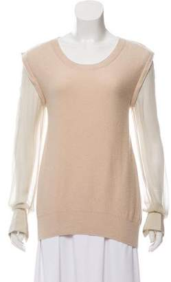 3.1 Phillip Lim Cashmere Accented Top