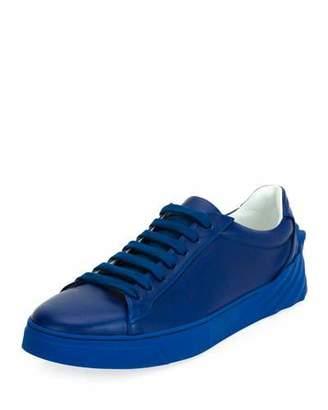 Versace Men's Leather Low-Top Sneakers, Blue