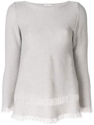 Asolo Borgo cashmere fringed hem sweater