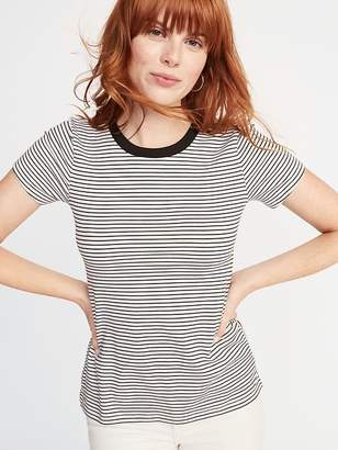 Old Navy Slim-Fit Striped Crew-Neck Tee for Women
