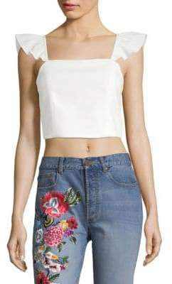 Alice + Olivia Celestia Flutter Crop Top