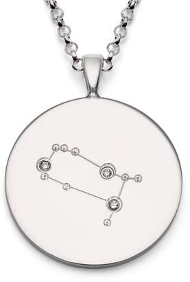 Harry Rocks - Gemini Constellation Silver & Diamonds Necklace