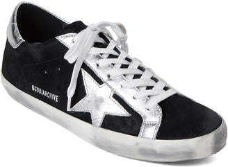 Golden Goose Black & Silver Archive Low-Top Sneakers