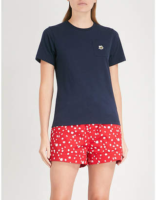 Chocoolate Embroidered bee-motif cotton-jersey T-shirt