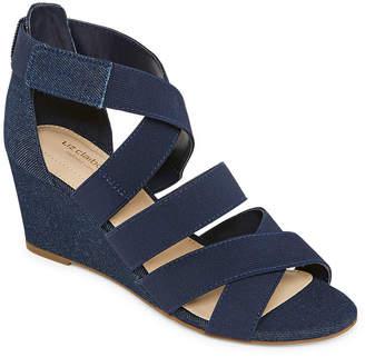Liz Claiborne Womens Nest Wedge Sandals