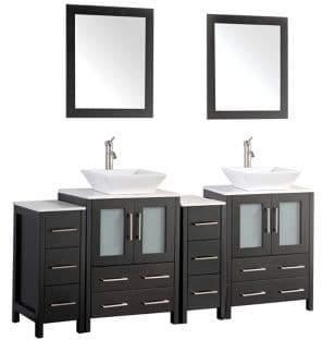 Vanity Art Double Sink Bathroom Vanity Set