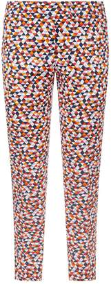 Akris Frances Diamond Print Trousers