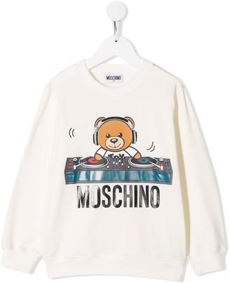 Moschino Kids teddy bear graphic sweatshirt