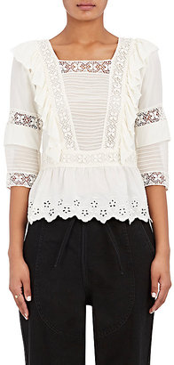 Ulla Johnson Women's Charlotte Blouse $415 thestylecure.com