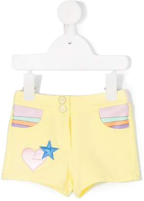 Little Marc Jacobs patched shorts