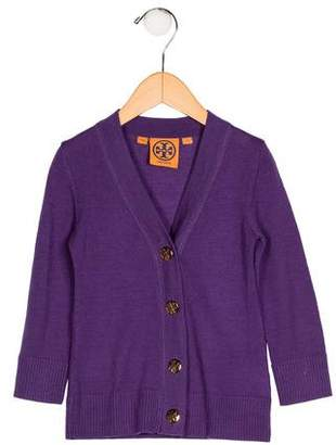 Tory Burch Girls' Wool Button-Up Cardigan