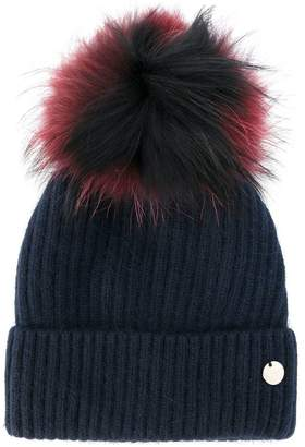 Yves Salomon removable pom pom knit hat