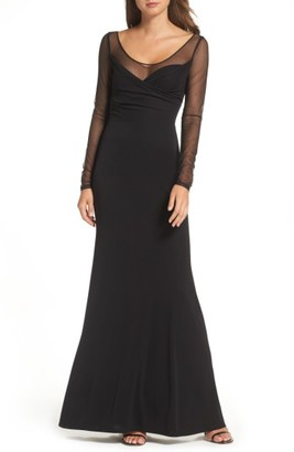 Women's Vera Wang Long Sleeve Gown $328 thestylecure.com