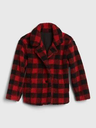 Gap Buffalo Plaid Sherpa Jacket